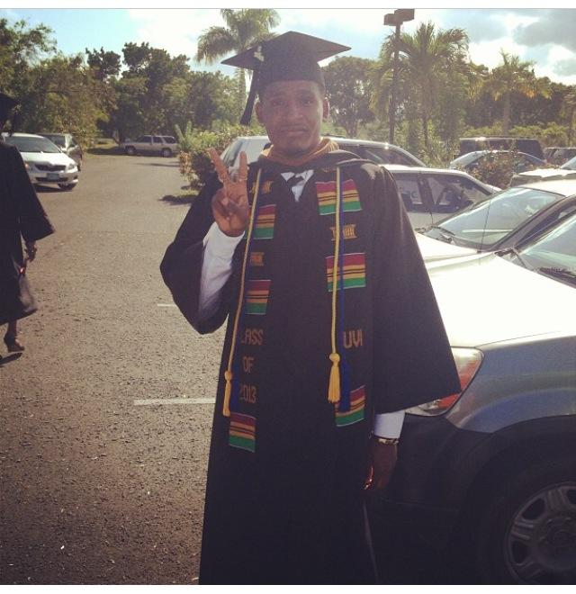 creg brown, part of the 28 percent of 2013 UVI male graduates