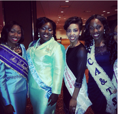Miss UVI (second to the left), among other participants of the competition