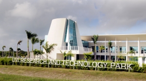 The new home of UVI's College of Science and Mathematics on St. Croix is located in the recently completed Research and Technology Park on the Albert A. Sheen Campus.