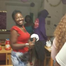RA Sheena Tonge as she made the final preperations for the ice cream social
