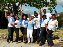 UVI's Access and Enrollment Staff Showcasing their UVI Pride.