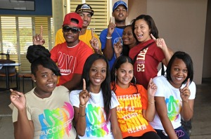 UVI Students showing their UVI Pride. Photo Credit: all photos taken from UVI Facebook page