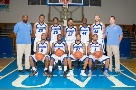 Photo Caption: University of the Virgin Islands 2014 basketball team.  Photo Credit: UVI Athletics