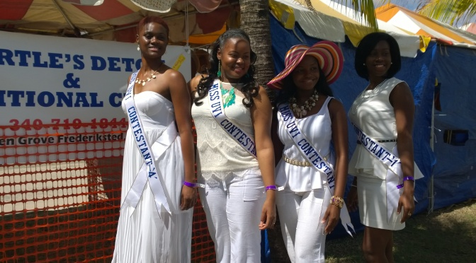 St. Thomas Miss UVI Contestants travel to St. Croix for Queen's Retreat and Agrifest 2014.
