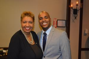 Stephan Moore, Dean of Student Affairs, and Jennifer Nugent-Hill