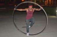 Antonio Cruz performing on his Wheel