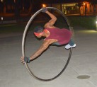 Antonio Cruz performing on his wheel