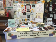 The Black History Month display at Counselling and Career Services