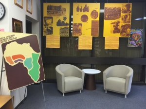African Arts Display at the library on the Albert A. Sheen campus. -Arige Shrouf