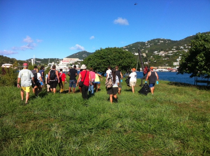 UVI Science Dept. partners with St. Thomas Historical Trust for Hassel Island Beach Cleanup