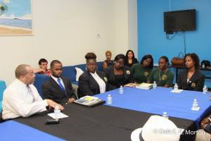 Photo Credit: Dale Morton  Members of the student government association and other student leaders participating in private panel discussion at UVI Sports and Fitness Commuter Longue, St Thomas Campus, USVI.