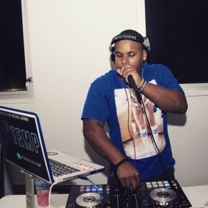 DJ Temp playing at SGA's Back to school party at UVI Sports at Fitness Center, January 2015.  Photo Credit: Michael McFarlane