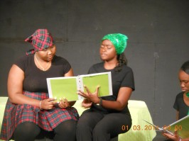 Students rehearsing at Little Theater.