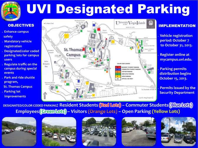 UVI Welcome Back How-To: The Parking Permit Situation