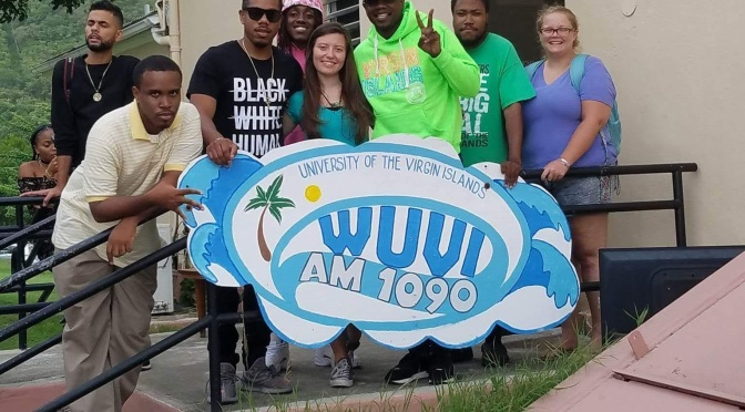 R. City Visits WUVI, Campus Radio Station